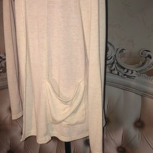 Poof! Sweaters - LN- Poof! Off White Side Pocket Open Cardigan